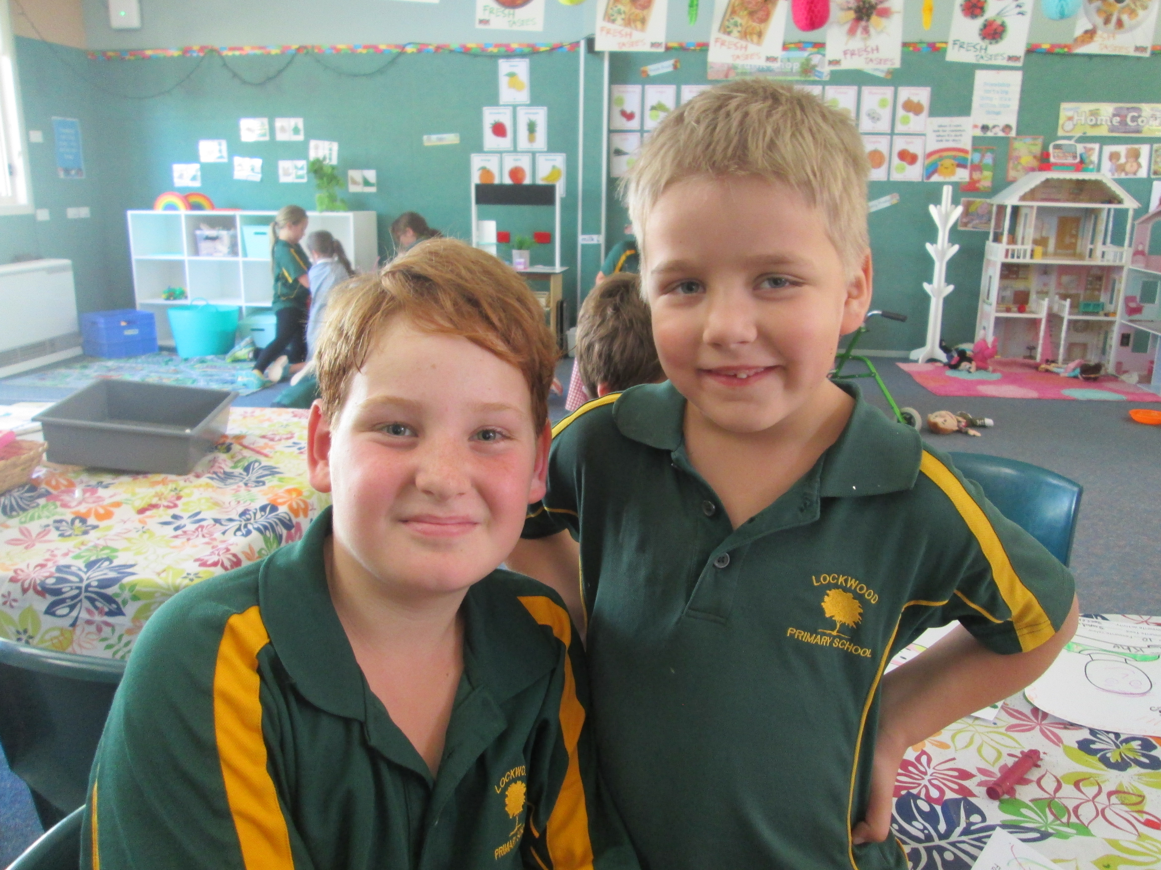 Tristan (Gr.5) and Jimmy (Prep)